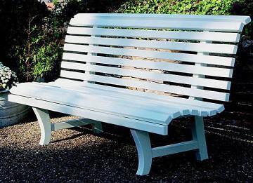 eine besondere Geschenkidee zur Hochzeit Geburtstag suchen Holz Gartenbank weiße Landhausbank  Parkbank Potsdam