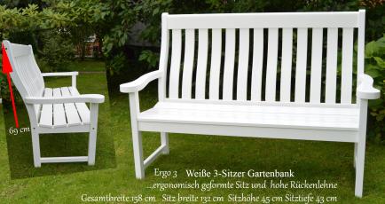 eine besondere Geschenkidee zur Hochzeit Geburtstag suchen Holz Gartenbank weiß Sylter Gartenbank