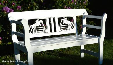 Geschenk für Reiter, Reiterin, Geschenk für Pferdebezitzer, Geschenk zum Geburtstag für Pferdeliebhaber, Geschenk zum Jubiläum für Reiter,  Gartenbank weiss  Pferdesport Reiterhöfe Pferdefreunde