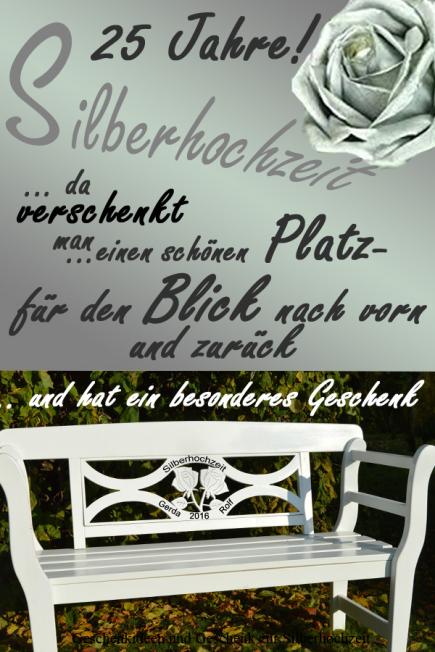 Silberhochzeit Geschenk.