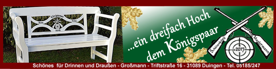 Geschenk Geschenkidee Schützenkönig Schützenkönigin Königspaar Schützenbruder Schützenverein